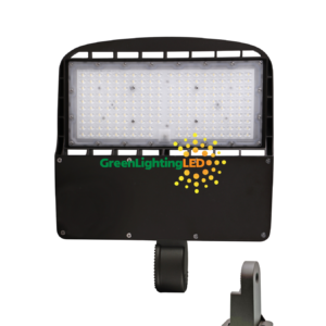 led multi purpose shoebox fixture direct yoke mount 150 watt 480V high voltage