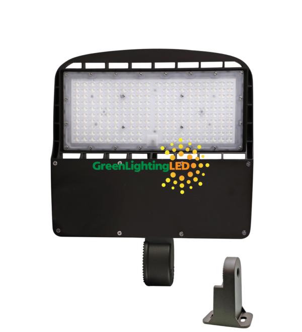 led multi purpose shoebox fixture direct yoke mount 150 watt